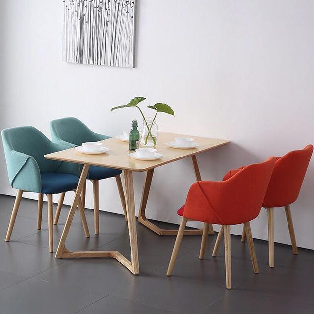 Juego de mesa de comedor de madera de estilo nórdico U BEST, mesa de ...