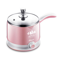 Mini Multi Cookers 1.5L Food Grade Stainless Steel Hot Pot Cooker Electric Steamed Soup Pots Perfect for Dorm and Home