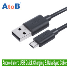 AtoB Android Smartphone Micro USB Universal Charging Data Cable For Samsung Honor ZTE Lenvo Nokia OPPO Huawei Mexzue Xiaomi Vivo