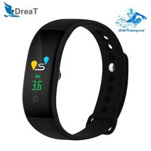 цена на Bluetooth Smart Watch IP68 Sport Watch Waterproof Heart Rate Monitor Smart Wristband Blood Pressure Remind Bracelet