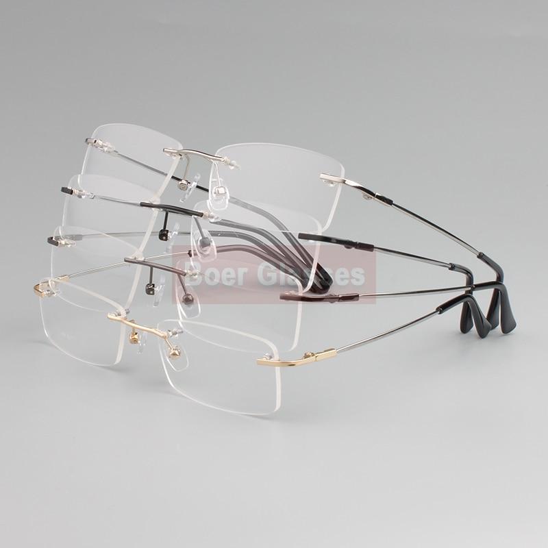 Rimless Glasses minne titan flexibla manglasögon glasögon - Kläder tillbehör - Foto 2