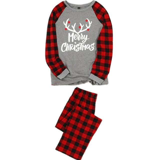 Christmas Family Pajamas Set Christmas Clothes Parent-child Suit Home Sleepwear New Baby Kid Dad Mom Matching Family Outfits 2