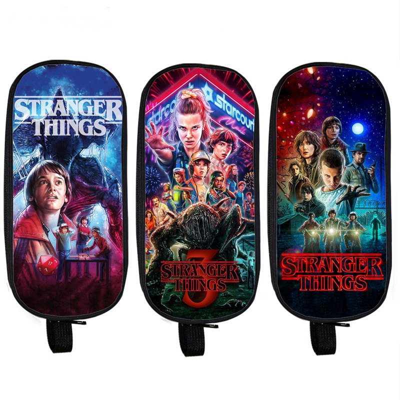 Stranger Things Cosmetic Cases Pencil Bag Boys Girls Stationary Bag Kids Pencil Box School Supplies