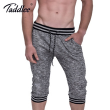 Taddlee Brand Cotton Men's Shorts Active Jogger Sweatpatns Casual Gasp Short Bottoms Fitness Cargo Boxer Trunks Calf-Length