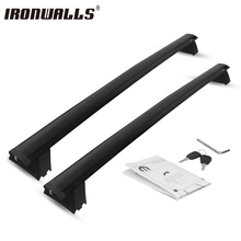 Ironwalls 2X Sistema Kit Set Lock Carrier Aluminio Baca Cruz bares Para Jeep Grand Cherokee 2011 2012 2013 2014 2015 2016