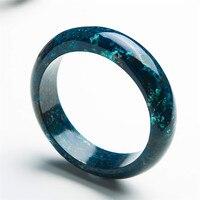 Из натуральной зеленый хризоколла Малахит камни камень Для женщин очарование дамы круглый кристалл браслет внутренняя Диаметр 60 мм