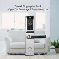 Eseye fechadura da porta inteligente fechadura de impressão digital fechadura da porta fechadura eletrônica controle remoto anti-ladrão segurança para casa família