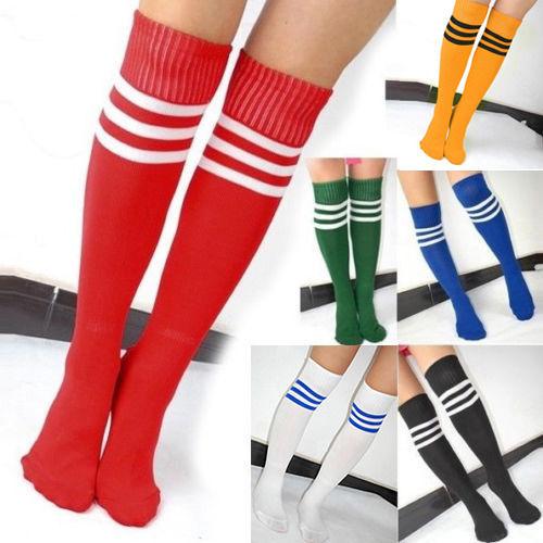 Black White Socks Striped Knee High Long Fancy Dress Wednesday Over Knee Women