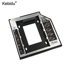"""Kebidu Универсальный SATA 3,0 2nd HDD Caddy 9,5 мм для 2,"""" SSD чехол HDD корпус с светодиодный для ноутбука DVD CD rom"""