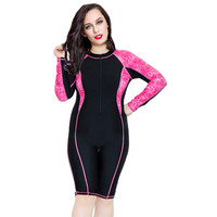 Sport one swimwear bathing suit for women Long sleeve lengthen boxer shorts competition sports Print 2018 Plus size Swimsuit