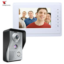 Yobang Security Freeship 7 inch Wired Video Door Bell Phone System Video intercom equipment Home Security indoor Intercom Camera