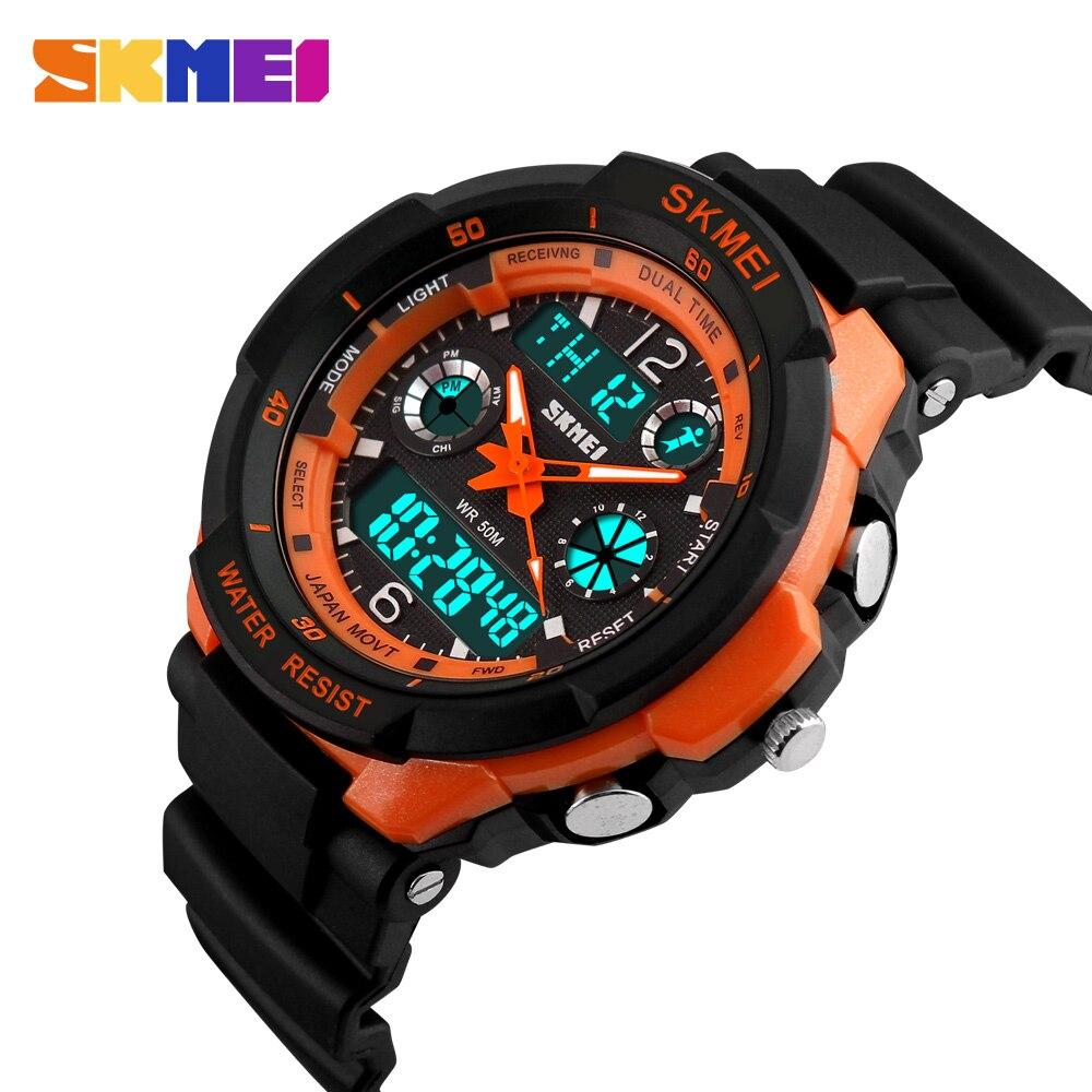 SKMEI zegarki dla dzieci Anti-Shock 5Bar wodoodporny odkryty Sport dzieci zegarki modny zegarek cyfrowy Relogio Masculino 0931 1060