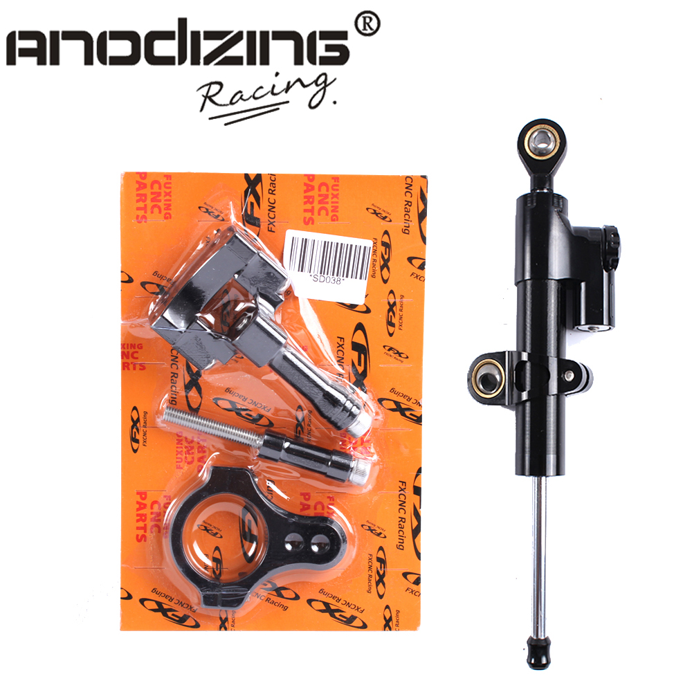 ФОТО CNC Steering Damper Complete Set for YAMAHA YZF-R25/R3 2013-2016