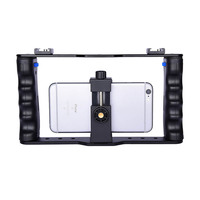 Yelangu Smartphone Video Rig Filmmaking Vlogging Rig Cage Stabilizer for Mobile Phone Samsung Huawei iPhone Xs Max XR X 8 7 Plus