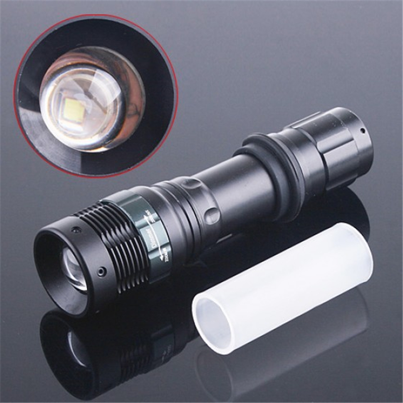 T6 1000 Lumens LED Flashlight Zoomable Lantern Camping Light Tactical Torch Lamp Hunting Spotlight 5000 lumens flashlight cree xm t6 5modes led tactical flash light waterproof lamp torch hunting flash light lantern for camping