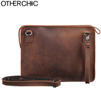 OTHERCHIC Crazy Horse Genuine Leather Bags Men Clutch Bags Vintage High Quality Messenger Bag Crossbody Bag