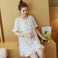 Maternidad verano 2017 nuevo coreano flojo grasa mm temperamento era delgada de manga corta de gasa dress 6022