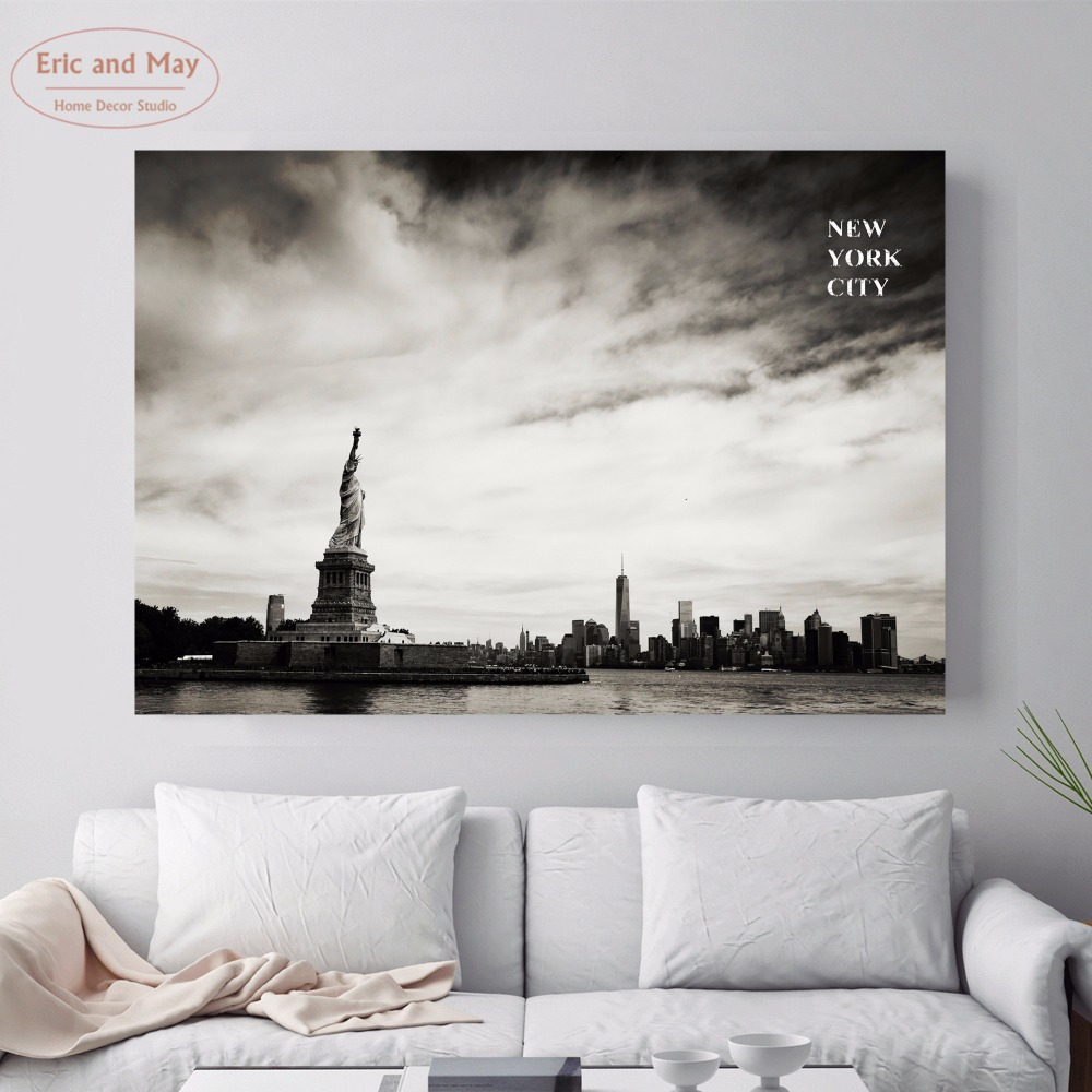 New York City Modern Canvas Painting Print Picture Home: New York City Landscape Canvas Art Print Painting Poster