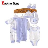 8pcs Set Long Sleeve Newborn Baby 0 3M Brand Boy Girl Warm Clothes Set 100
