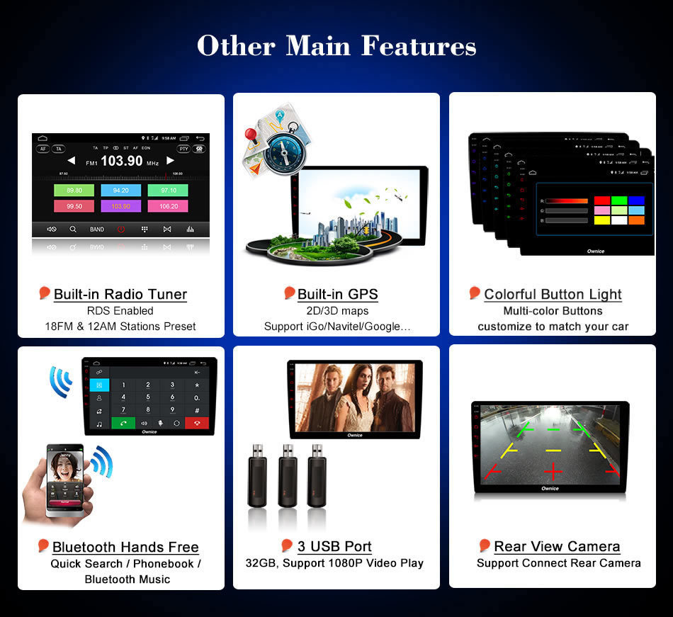 Ownice C500 8 Core 10.1 Android 6.0 car Radio player DVD 32G ROM for Toyota Corolla 2009 - 2013 Camry 2007 - 2011 2013 4G DAB