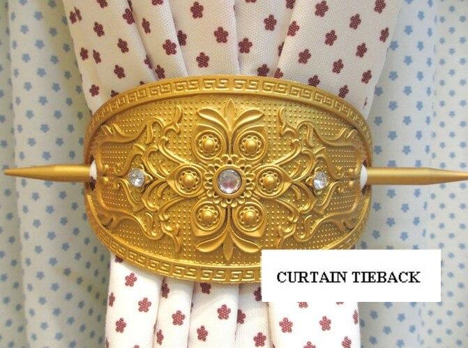 2x Antique Curtain Tie backs/clip/decoration/Holder/holdback over ...