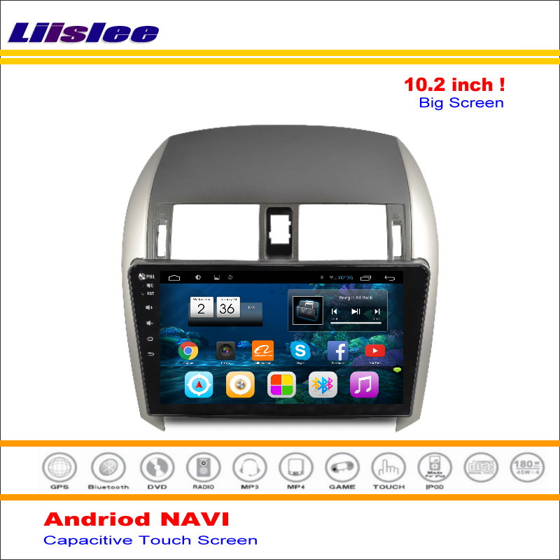 Excellent Liisle Android GPS NAV NVAI Navigation System For Toyota Corolla 2007~2013 Radio Stereo Audio Video Multimedia ( No DVD Player 1