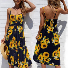 Sexy Long Beach Dress Maxi Dresse Women Backless Floral Printed Female Casual Fashion Vacation Vestidos Verano 2019