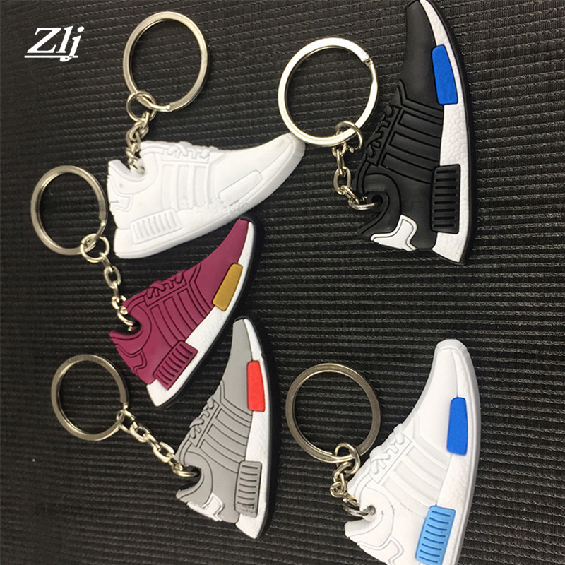 Shoe Keychain Key Chain Jordan Shoes Sneaker Car Key Holder Mini Silicone key keyring Woman Men Bag Key Rings Pendant Fans gifts nursery furniture kit