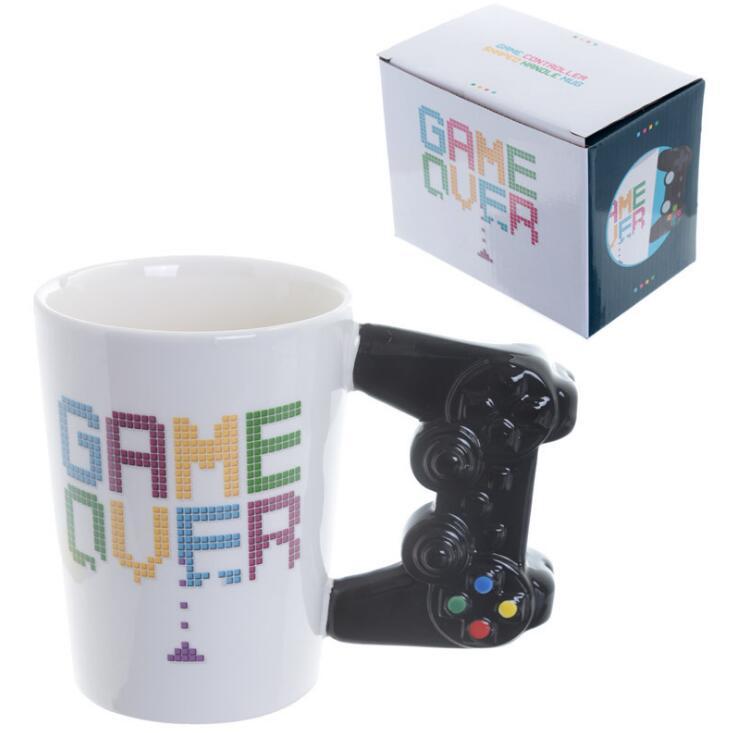 1 шт., игровая кружка для кофе, 3D игровой контроллер, ручка для офиса, керамическая чашка для кофе, кружка для Nerd, Gameboy Gamer, подарок PS4|Кружки|   | АлиЭкспресс