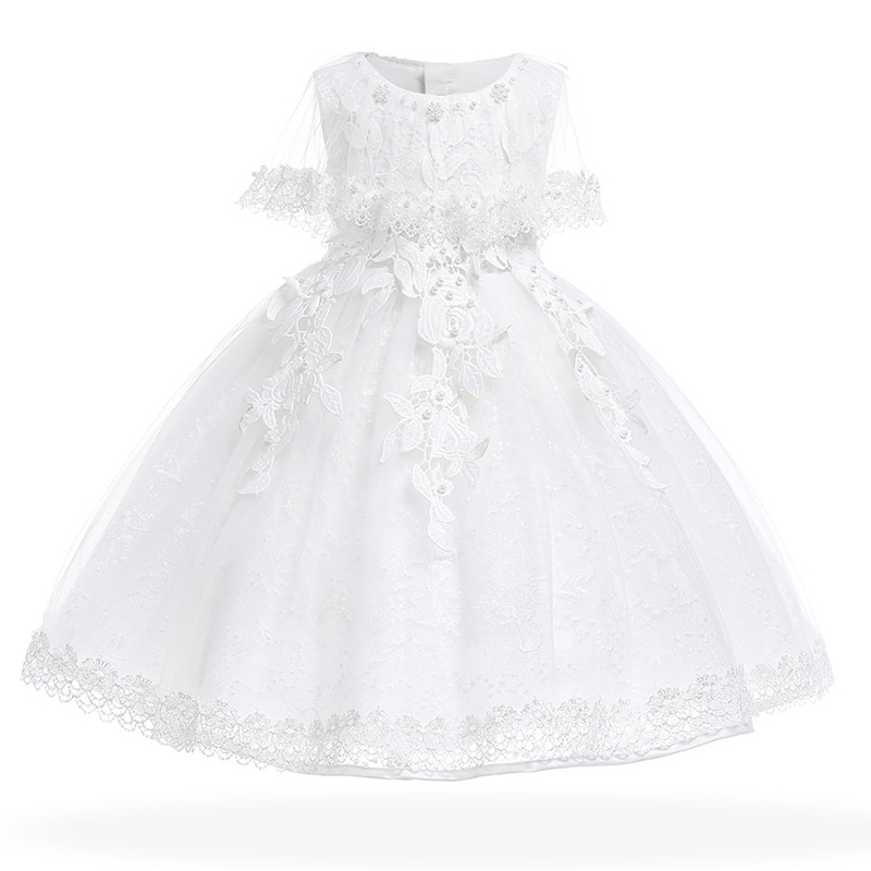 232c6f7a9 Baby Girls Dress Pearl Infant Party Dresses Vintage Newborn Baptism ...