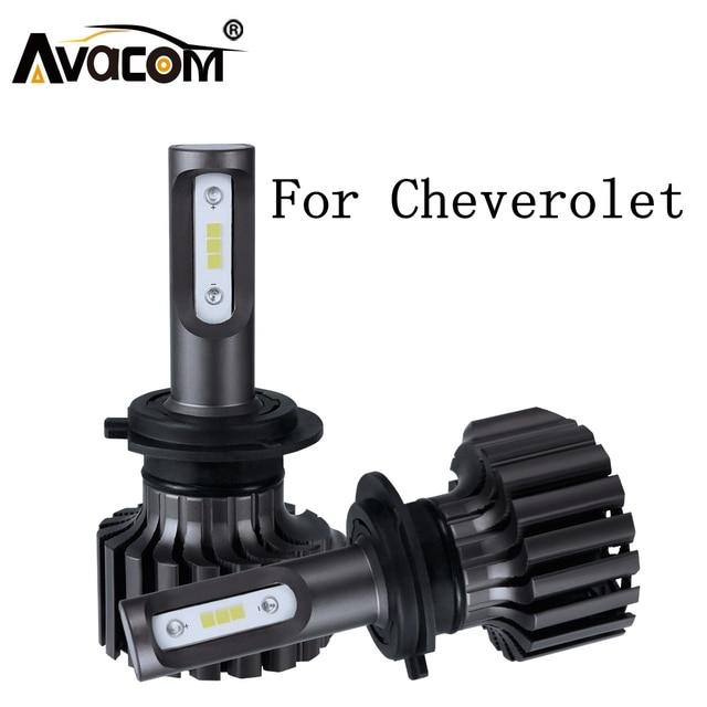 2 Pieces LED Headlight Bulb For Car Turbo Fan 12V 6500K 12000Lm Auto DRL Fog Light For Chevrolet Astra/Spark/Silverado/Zafira