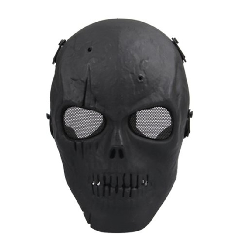 SDFC Airsoft Mask Skull Full Protective Mask Military - Black