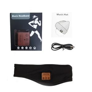 Image 4 - רך Bluetooth סרט כובע סטריאו אוזניות מוסיקה אוזניות שינה אוזניות כובע ספורט בגימור עם מיקרופון תשובה שיחה עבור iPhone