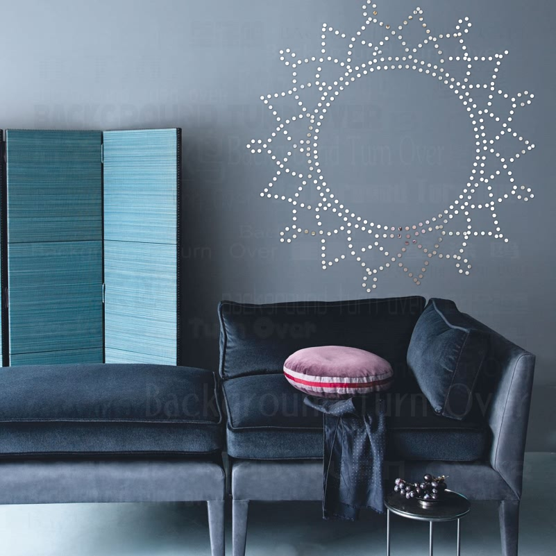 DIY Bordeaux dot zon acryl spiegel muurstickers bed hed decal ...