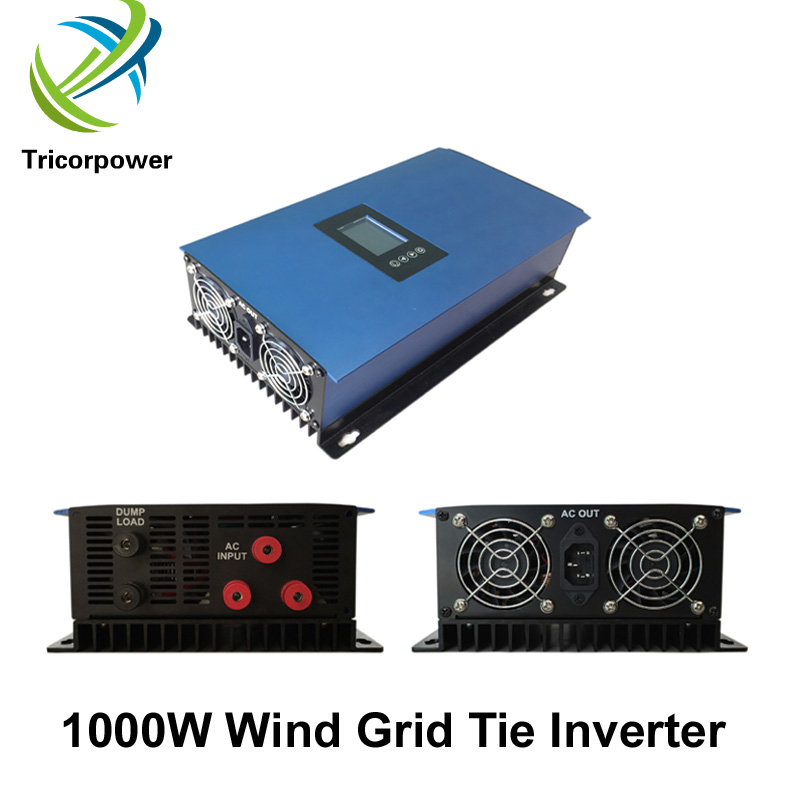 Wind GTI 1000W Second Generation Wind Power Grid Tie Inverter 1000G2-WAL-LCD with Dump Load Controller and Limiter and Wind GTI 1000W Second Generation Wind Power Grid Tie Inverter 1000G2-WAL-LCD with Dump Load Controller and Limiter and