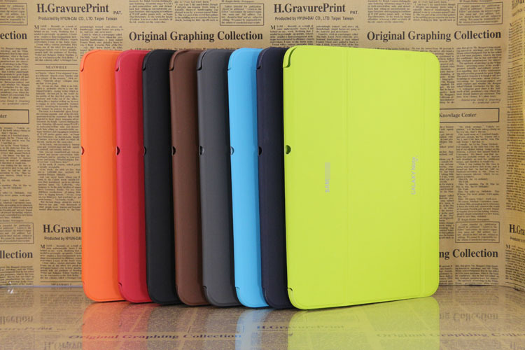 3 in 1 Hot Sale Stand Slim Pu Leather Case Skin Cover for Samsung Galaxy Note 10 1 N8000 N8010 + Stylus + Screen Film