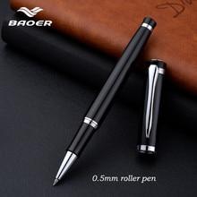 BAOER508 Black Business Metal Gel Pen Roller stationery gel pen Color Snowflake Fine Styling Nib Writing Refill Office Gifts