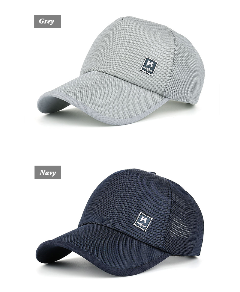 Stamp Emblem Snapback Cap - Grey Cap and Navy Cap