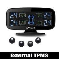اللاسلكي نظام مراقبة ضغط الإطارات tpms للسيارة مع مجسات externall/ارتفاع ضغط عال إنذار تسرب الحرارة بسرعة