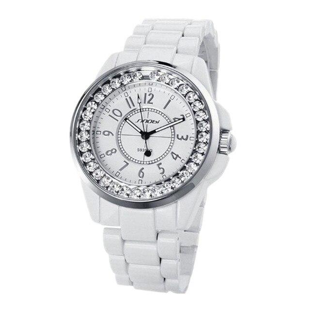 3b319a8ec611 Ürün Açıklaması. SINOBI Kadın kol saati Lüks Rhinestone kadın Saatler ...