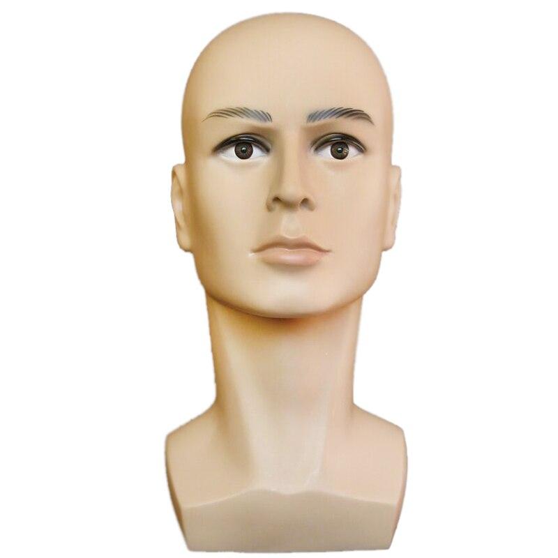 Livraison gratuite café couleur homme Mannequin tête chapeau affichage perruque tête d'entraînement modèle de tête modèle de tête hommes modèle de tête