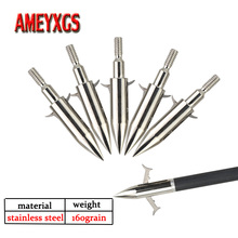 12pcs Archery Arrowhead 160 grain Stainless Steel 2 Blades Fishing Broadhead For Outdoor Hunting Shooting Accessories