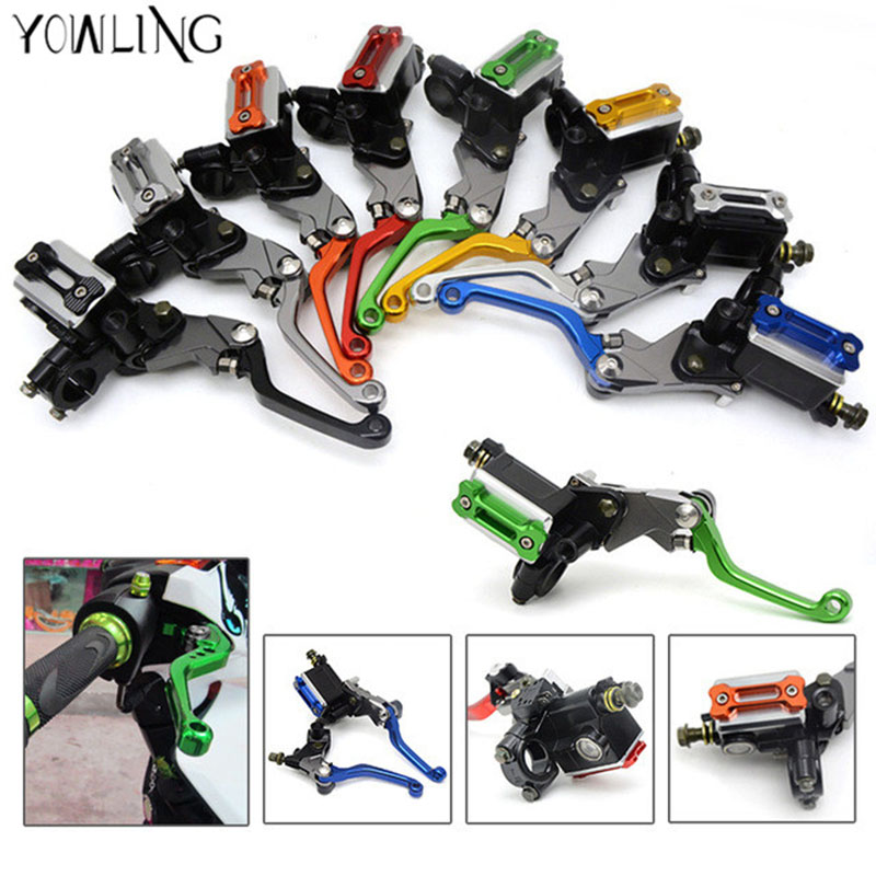 Aluminum ASV Clutch & Brake Folding Lever Fit Most Motorcycle ATV Dirt Pit Bike Motocross Cafe Racer WR KLX CRF YZF RMZ EXC alloy aluminum clutch lever brake lever fit crf klx apollo xmotos kayo pit dirt bike parts free shipping xmotos abm racer