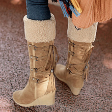 Fashion Mid-Calf Short Plush Increase Snow Boots