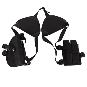 Image 1 - 2019 Hunting Accessories universal Two pcs hidden Pistol Gun holster with MAG POUCH Tactical Double Shoulder Armpit Holster