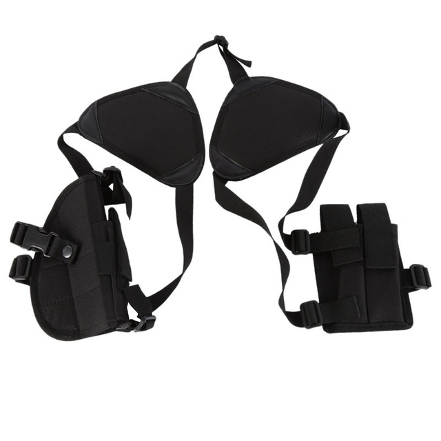 2019 Hunting Accessories universal Two pcs hidden Pistol Gun holster with MAG POUCH Tactical Double Shoulder Armpit Holster