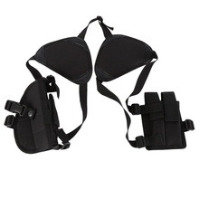 2019 accesorios de caza universal dos piezas funda de pistola oculta con funda magnética táctica de doble hombro pistolera