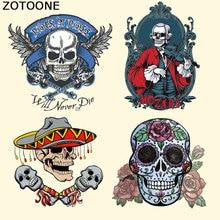 ZOTOONE утюжок на теплопередачи патчи для одежды мода череп цветок Патчи DIY полосы аппликация на футболку пользовательские наклейки E