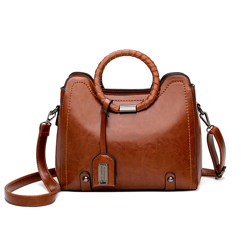New Arrival Fashion Design 2018 Handbags Big Capacity Classic Simple Brand Soft  Bags Vintage Casual Handbags PU Leather 1086 memunia  new arrival simple pu leather