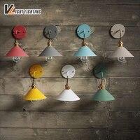 TUOBO Nórdicos Luminárias de Parede Retro Do Vintage Colorido Sombra de Ferro Lâmpada de Parede interior LED Loft Estilo Industrial Lâmpada De Parede Arandela Luminárias de parede     -